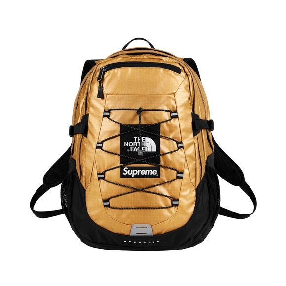 55fcccded Supreme x North Face Gold Metallic Backpack NWT
